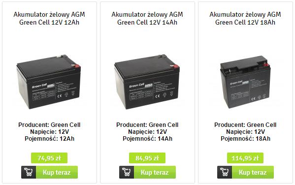 akumulatory AGM Green Cell