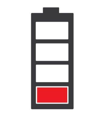 rozładowania bateria